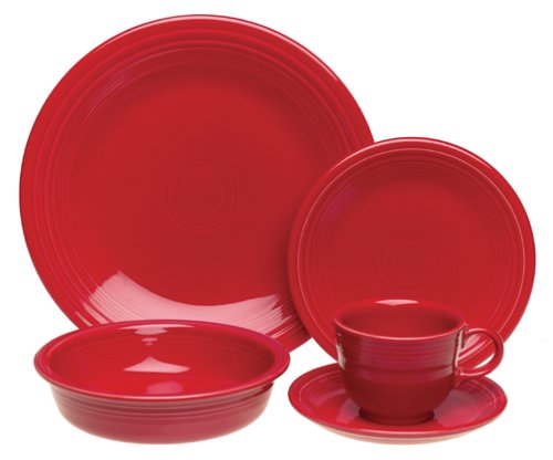 Fiesta 20-Piece, Service for 4 Dinnerware Set, Scarlet