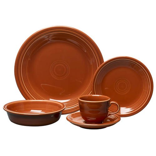 Fiesta 5-Piece Place Setting, Paprika